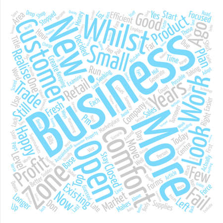 Is Your Business In The Comfort Zone Word Cloud Concept Text Background