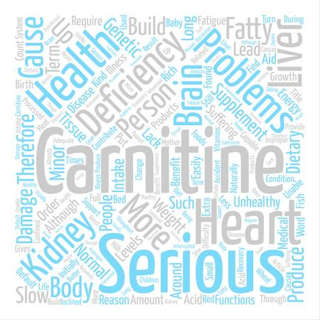 L Carnitine Deficiency Word Cloud Concept Text Background Ilustrace