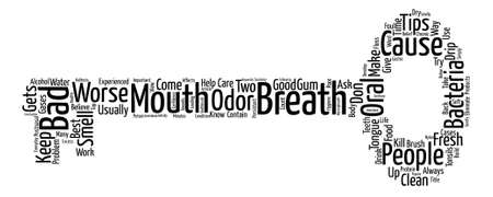 Tips to have a fresh breath text background word cloud concept
