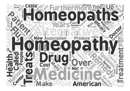 cease: Homeopathy Which Way Now Word Cloud Concept Text Background