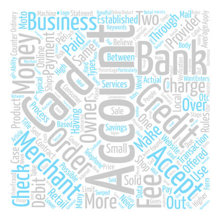 checking accounts: What Is A Merchant Account Word Cloud Concept Text Background Illustration