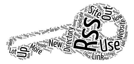 syndicate: Rss directory text background word cloud concept