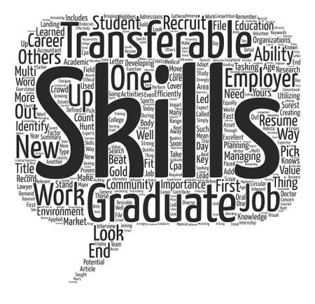 transferable: The Importance of Transferable Skills for Graduates Word Cloud Concept Text Background