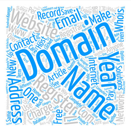 How to Register Your Domain text background word cloud concept