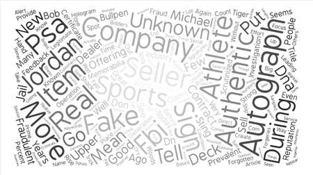 Sports Memorabilia Fraud On The Rise Again text background word cloud concept