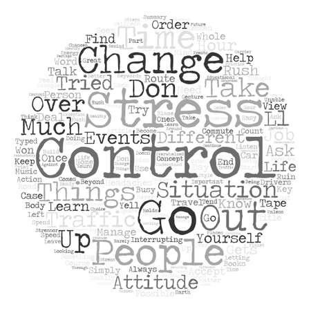 Stress Control Es ändern oder lass es Word Cloud-Konzept Text Hintergrund Vektorgrafik