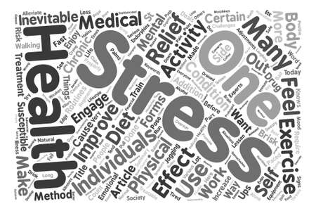 Stress Inevitable But Treatable text background word cloud concept Ilustração