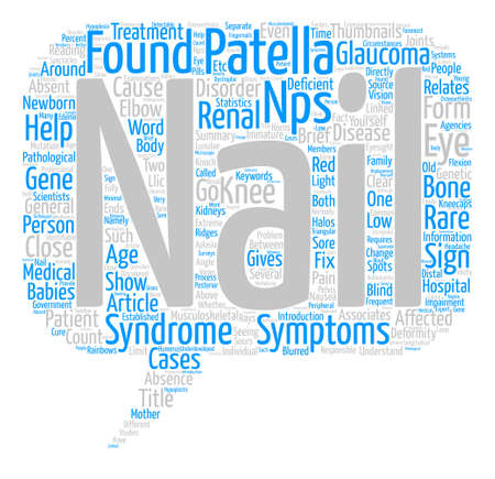 Nail Patella Syndrome text background word cloud concept