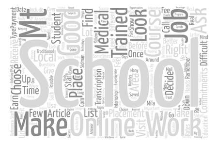 How To Choose The Right MT Course text background word cloud concept Illustration