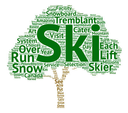 daring: Tremblant In Canada text background word cloud concept Illustration