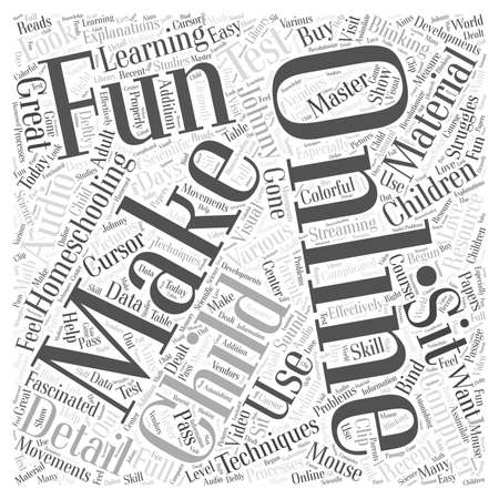 homeschooling: Homeschooling online Word Cloud Concept