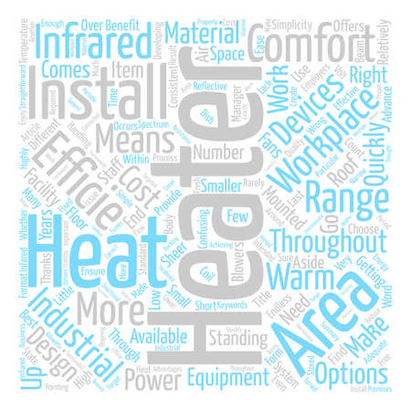 Infrared Heaters Word Cloud Concept Text Background