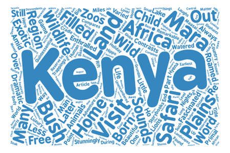 Kenya The Land Where Safari Was Born Word Cloud Concept Text Background