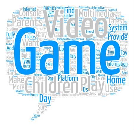 Video Juegos fondo de texto palabra nube concepto
