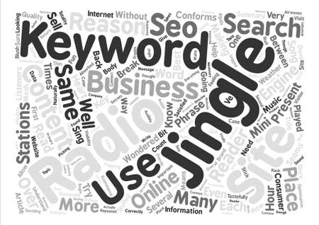 listeners: SEO And The Content Between The Jingles text background word cloud concept Illustration