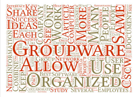 groupware: What is Groupware text background word cloud concept