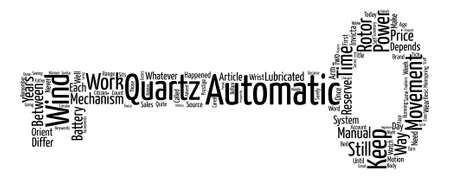 How Automatic Watches Work text background word cloud concept