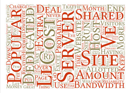 When To Consider A Dedicated Server Word Cloud Concept Text Background