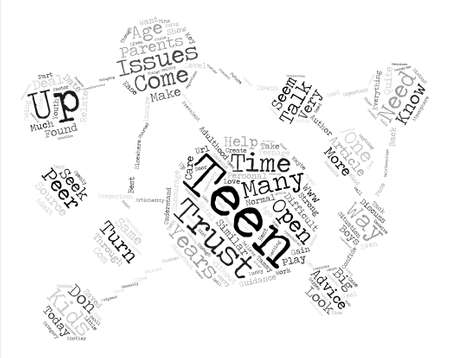 tammy: Relate With Your Teen and Gain Their Trust text background word cloud concept Illustration