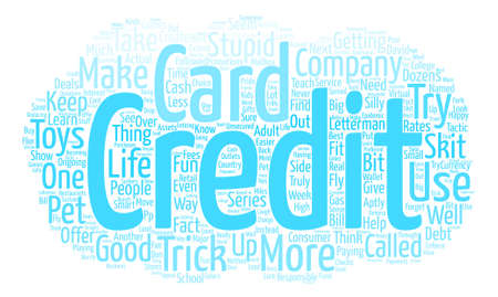 Stupid Credit Card Tricks text background word cloud concept
