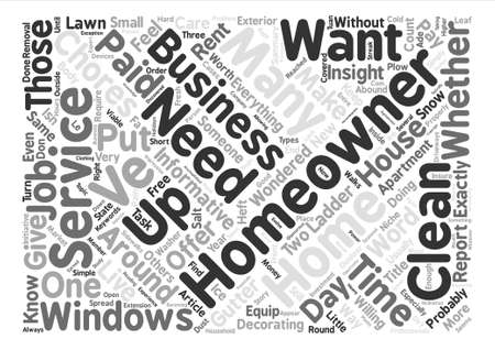 homeowners: What Will Be Service Needed By Homeowners text background word cloud concept