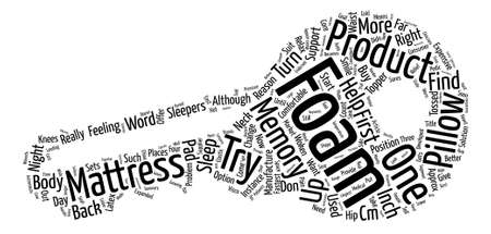 Need Help To Sleep Try a Memory Foam Mattress text background word cloud concept