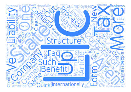 LLC FAQ Word Cloud Concept Text Background