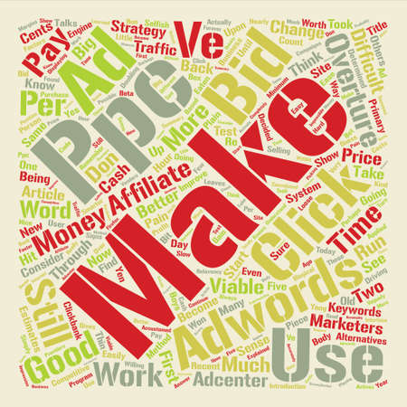 Should Affiliate Marketers still consider PPC as viable Word Cloud Concept Text Background