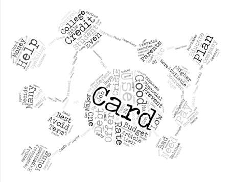 financially: How Will Student Credit Cards Help My Teen Word Cloud Concept Text Background