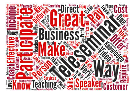 How To Do A Teleseminar Word Cloud Concept Text Background