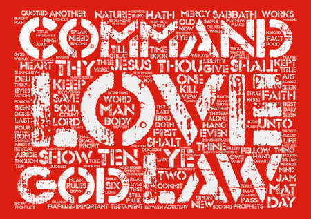 The Law of Love Word Cloud Concept Text Background Illustration