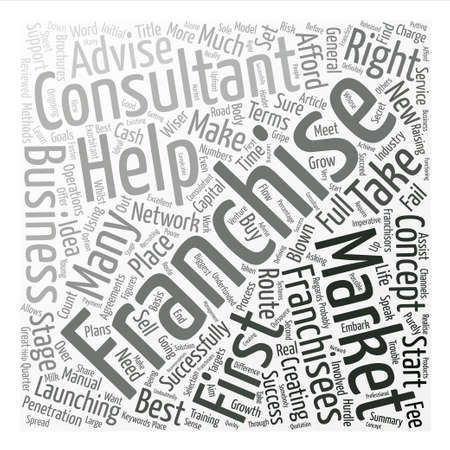What Does A Franchise Consultant Do Word Cloud Concept Text Background
