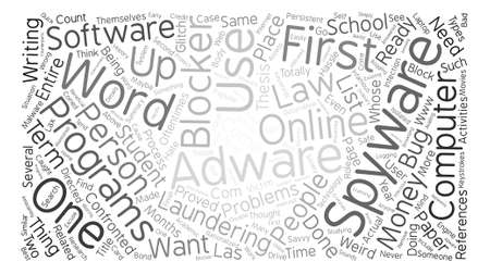 The Need For Adware And Spyware Blocker text background word cloud concept