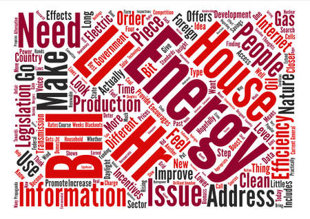 House energy ll hr Word Cloud Concept Text Background Illustration