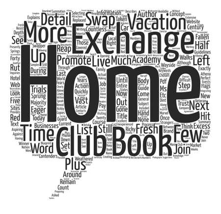 eager: Home Exchange Academy e Book text background word cloud concept