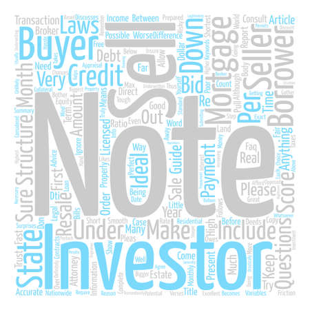 How to structure your mortgage note for resale to an Investor Word Cloud Concept Text Background