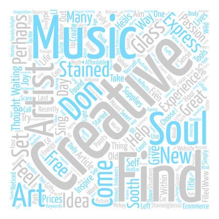 Stained Glass A Z and why creativity heals text background word cloud concept