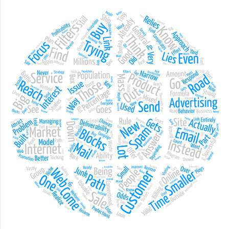 The Path to Customers text background word cloud concept