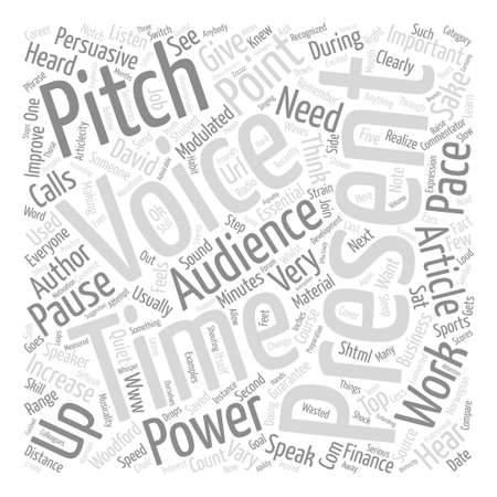 persuasive: Persuasive Presentations It s In The Voice text background word cloud concept