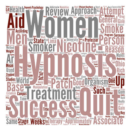 quit: Hypnosis Helps Men Quit text background word cloud concept