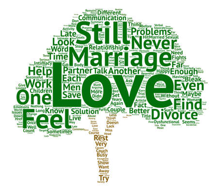 bleak: Is Love Enough to Save You from Divorce Word Cloud Concept Text Background Illustration