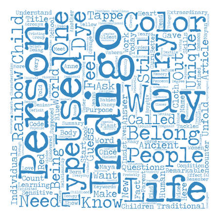 discovered: INDIGO NOT JUST ANOTHER COLOR text background word cloud concept