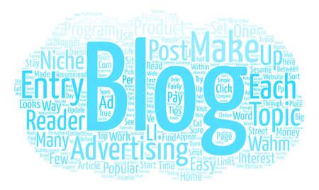 Wahm Blogs Word Cloud Concept Text Background Ilustrace