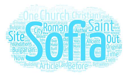 Sofia s Church of Saint Sofia text background word cloud concept