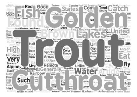 cutthroat: Trout Species Cutthroat Trout and Golden Trout text background word cloud concept