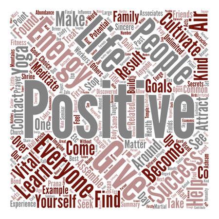 Positive Energy text background word cloud concept