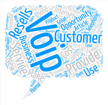 The Great Opportunity For VoIP Resellers text background word cloud concept