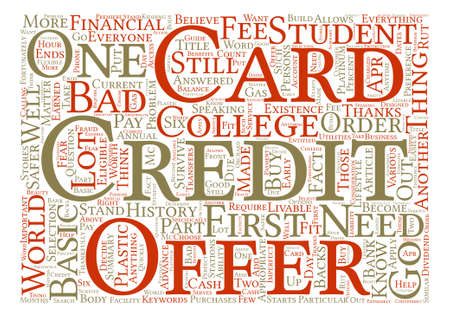 financially: Know Which Credit Card Offer You Should Go For text background word cloud concept