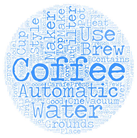 Coffee Maker Style Guide text background wordcloud concept