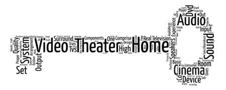 comprise: The Inside And Out Of A Home Theater Word Cloud Concept Text Background